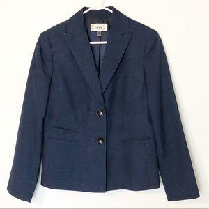 Le Suit Navy Suit Jacket Size 10